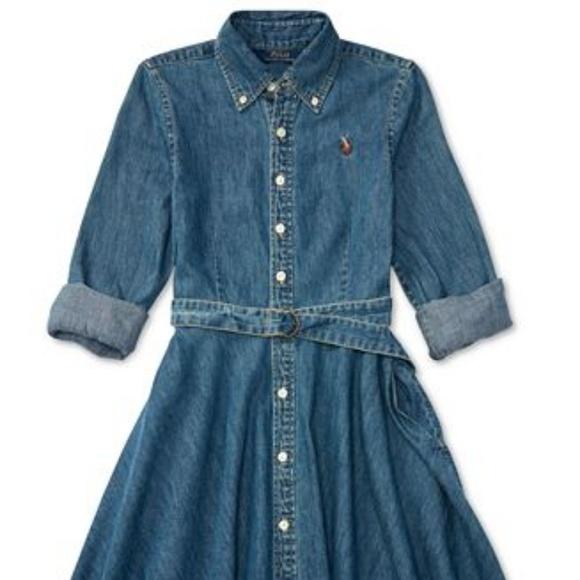 uk cheap sale best prices sale online Ralph Lauren Dresses | Girls Denim Belted Shirt Dress | Poshmark